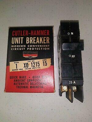 Cutler Hammer Square D Xo215 2 Pole 15 Amp Type Xo Circuit Breaker Nos