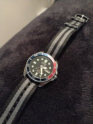 Citizen Promaster Automatic Midsize Submariner Black Diver Watch Pepsi
