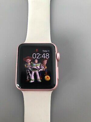 Apple Watch Series 1 38mm Rose Gold Aluminium Case Pink Sand Sport Band -...