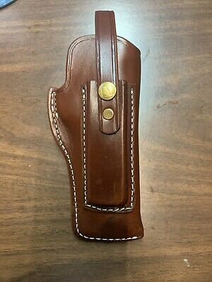 """TRIPLE K #39 PACKER HOLSTER W/ MAG POUCH FOR RUGER 22/45 4 1/2""""  NEW FACT. BLEM"""