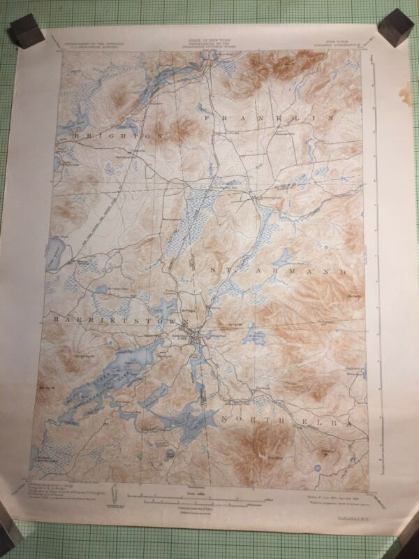 Lot Of 13 Adirondack Region US Dept of Interior Geological Survey Maps 20s & 30s