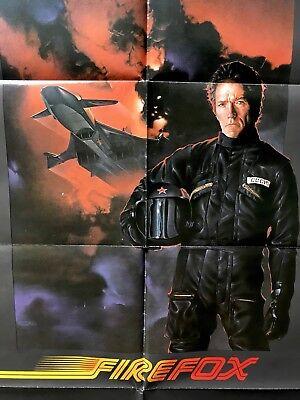 1981 Folded One Sheet (Clint Eastwood FIREFOX PROMO 1981 One Sheet Movie Poster 27x41 Folded )