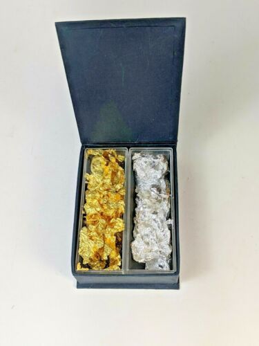 White and Yellow Gold Leaf in a Clear Plastic Display Box  Kanazawa Gold Leaf