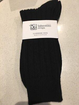 Johnstons of Elgin Men Socks cashmere new with tags - Black Best Seller RRP
