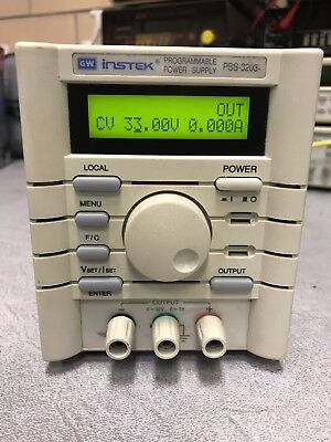 Instek Pss-3203 32v 3a Programable Power Supply Used Tested Ships Free
