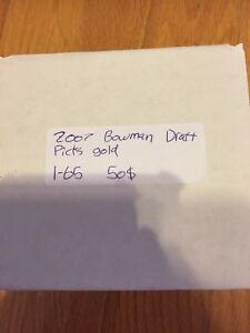 2007 bowman draft picks Gold 1-65  50$ch.   x2