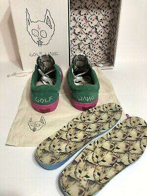 VANS Syndicate Golf Wang Old Skool Green and Pink Men's SZ 9 Rare with OG All