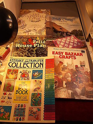 """LOT OF BOOKS """"IRISH CHAIN IN A DAY (QUILTING)"""" """"JUST A MATTER OF THYME"""" COOKBOOK"""
