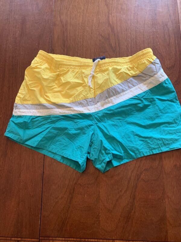 Vintage Sports Accent 80s Mens Board Shorts Swim Trunks Surf Colorblock Sz XL