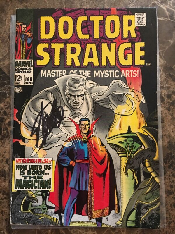 Doctor Strange #169 Signed by Stan Lee, First Solo Appearance; Condition: VF