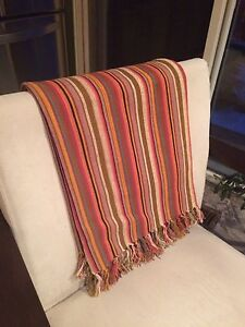 Urban Outfitters Striped Throw Blanket 50 x 60""
