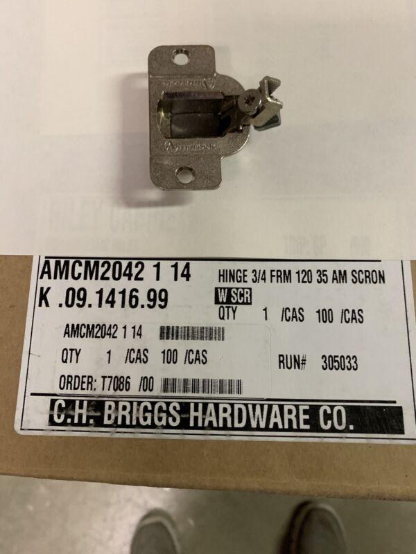 AMEROCK 2010E-31, 35 mm 105 Degree Hinge - Choice of Overlay Clip Baseplate QTY