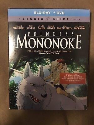 Princess Mononoke (Blu-ray/DVD, 2-Disc Set, 2017) NEW with Slip Cover