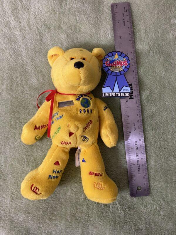 2000 Treasure Champs Dancin Dawn Countdown Critters Bear Plush Bean Bag NWT TAGS