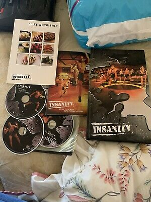 Insanity 60 Day Body Workout DVD's Plus 3 Bonus Disks  - Very Good Condition