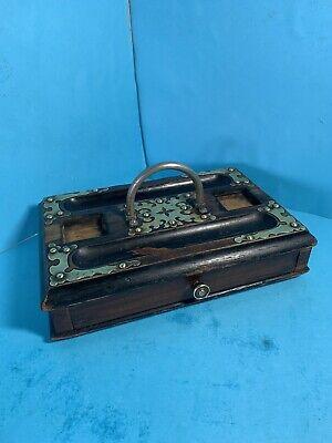 Antique William IV Walnut Brass + Ebony Desk Stand - FREE POSTAGE -