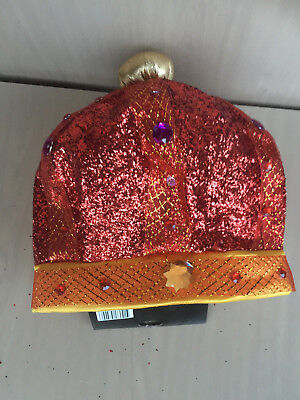 HAT CROWN GLITTER sequence gay party costume halloween King NEW pink - Gay Costume Halloween