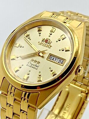 Orient  FAB00001C9 Men's 3 Star Standard Gold Tone Gold Dial Automatic Watch