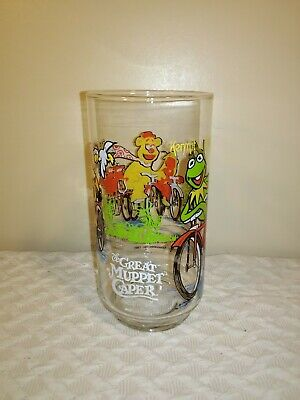 """""""The Great Muppet Caper"""" McDonald's Vintage 1981Glass, """"Kermit the Frog"""" Glass"""