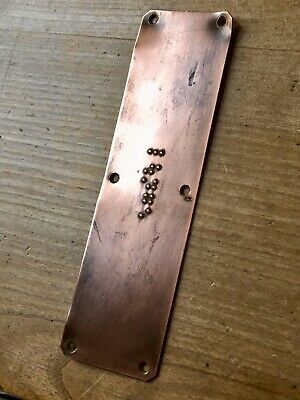 Vintage Sign Braille Copper Door Toilet Bar Pub Reclaimed Salvage Push Pull
