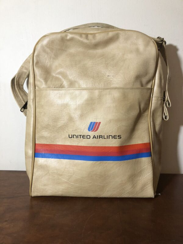 Vintage United Airlines Flight Attendant Travel Accessory Bag 1960