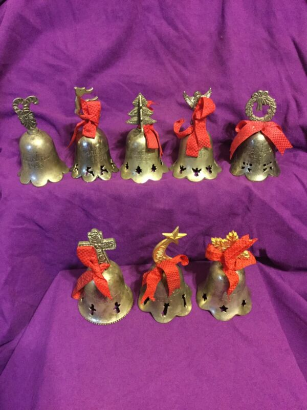 Vintage Christmas Bell, International Silver Co., Silver Plated~Lot/8~1993-2000