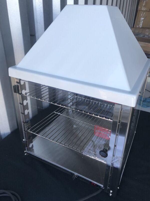 Wisco 690-16 Food Warming Merchandiser White Cabinet Double Door 2 Shelf NEW