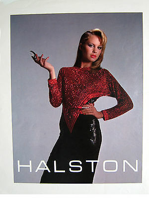 HALSTON - 4 Color Print Process Proof Sheet for Print Ads - early 1980's
