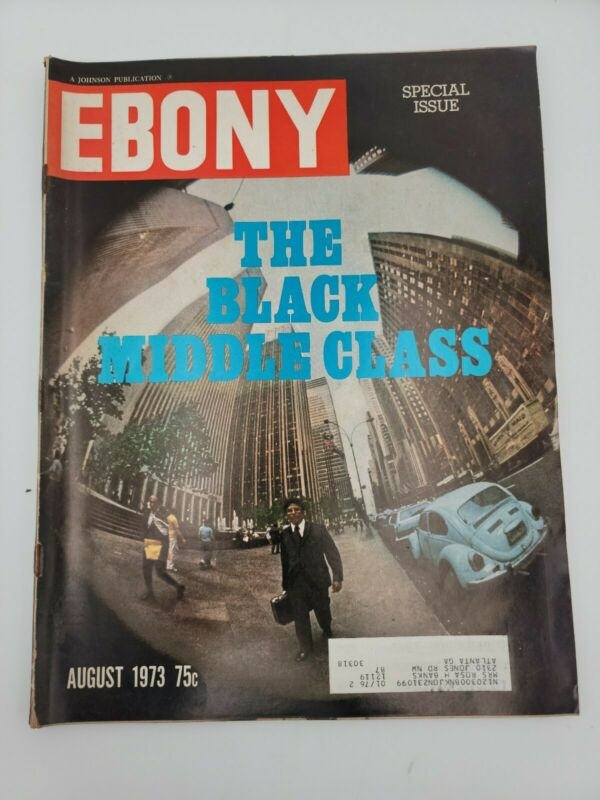 EBONY MAGAZINE THE BLACK MIDDLE CLASS AUGUST 1971 VINTAGE COLLECTIBLE