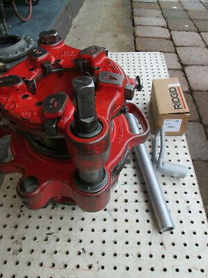 Ridgid 141 Receding Geared Threader W 844 Shaft Adater 300700jam Proof