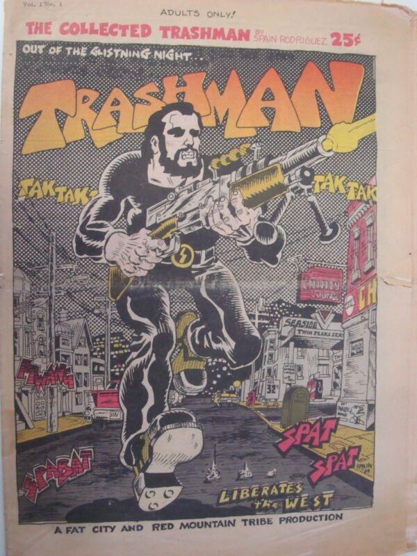 TRASHMAN newspaper by SPAIN underground comics Adult R.Crumb