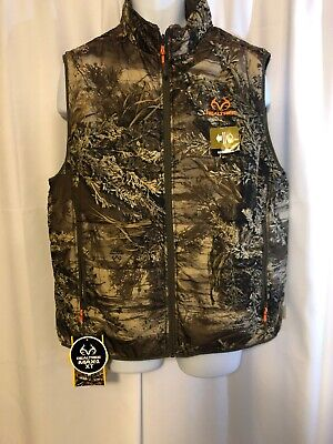 0939a058d27c2 Realtree Max-1 XT Men's XL (46-48)3M Insulated Camouflage Reversible Vest  NEW