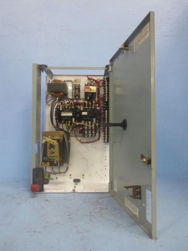 "General Electric GE 8000 Size 0 Reversing Starter 3 Amp Breaker 24"" MCC Bucket"
