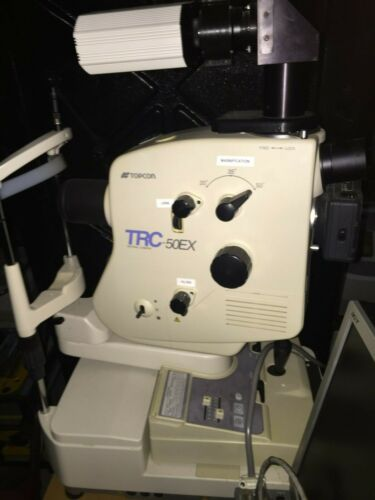Retinal Camera, Topcon TRC 50EX with Digital imaging software and power table