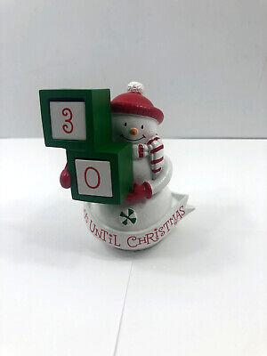 Hallmark Snowman Days Until Christmas Countdown Figurine 30 Day Advent