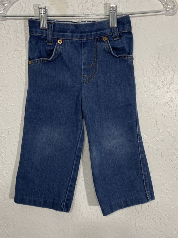 Vintage Levi's Sz 3T orange tab Jeans Denim Elastic Waist Baby pants