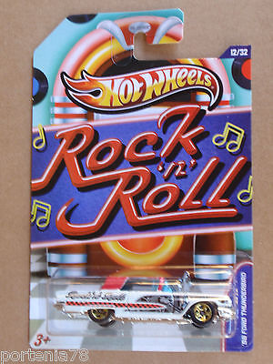 2013 Hot Wheels Jukebox 58 FORD THUNDERBIRD 12/32 Rock N Roll WHITE