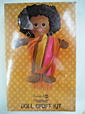 New Vintage 1970 Springbok International Doll Craft Kit Felt African NYASHA