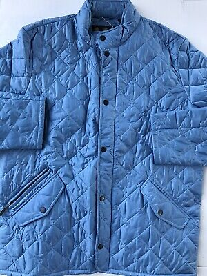 Barbour Mens Jacket light blue Size XL Flyweight Chelsea Quilted $229