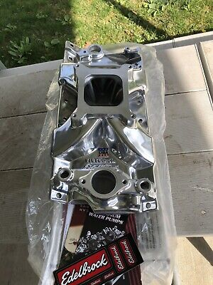 NEW Edelbrock 29751 Victor Jr Polished No Longer Produced 2975 Chevy Small Block