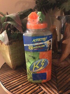 450 Orange-Green KADS Get Soaked TOSS'EM Water BOMB Balloons +2 Water Fillers