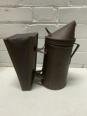 Vintage Used Bee Hive Smoker Leather Bellows Wisconsin Barn Find