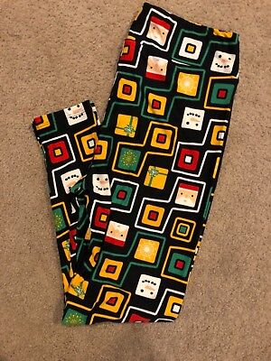 Lularoe CHRISTMAS*Graphic Santa/Snowman/Minecraft/UNICORN* Black Size TC2* - Minecraft Santa