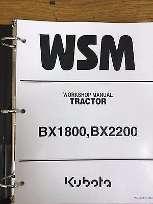 Kubota Bx1800 Bx2200 Bx 1800 2200 Tractor Service Repair Manual
