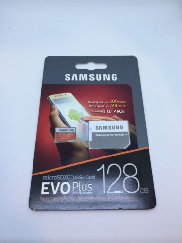 New Samsung EVO Plus 128GB microSDXC UHS-I Memory Card (2017 Model)