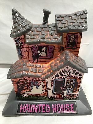 Vintage Halloween Belco Haunted House 1980s Blow Molded Plastic Light Up Decor