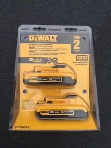 NEW DEWALT 20V MAX 2 AH BATTERY (2 pack)