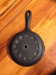 Skillet Shape Wall Clock Cast Iron Base 6 Ready For Clock Parts VTG