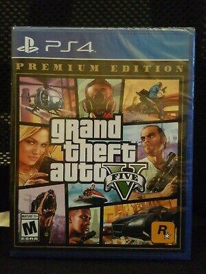 Grand Theft Auto V: Premium Edition (Sony PlayStation 4) PS4 - BRAND NEW