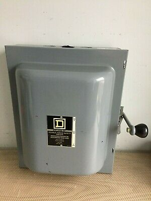 Square D 82343 100 Amp 600 Volt Double Throw Safety Switch